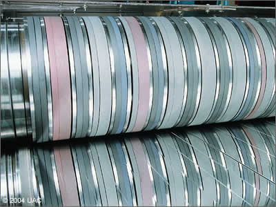 "United Aluminum has industry leading slitting, and some of the most talented aluminum coil slitting experts in the business. We can offer very tight width tolerances, specific coil OD ranges, large OD's up to 76"", and a variety of coil ID sizes and fiber or aluminum core types, as well as strippable plastic coating."