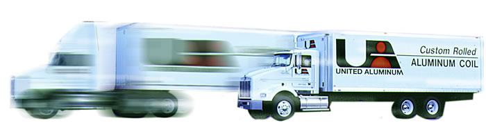 United Aluminum maintains its own fleet of trucks in the Northeast, and can deliver your aluminum coil order ontime Worldwide.