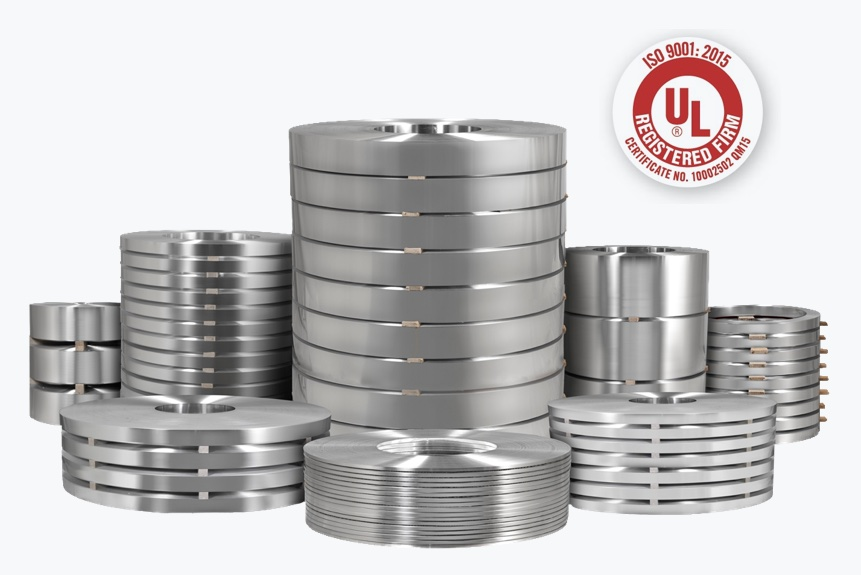 Rolls of Custom Rolled Aluminum Coil of different alloys